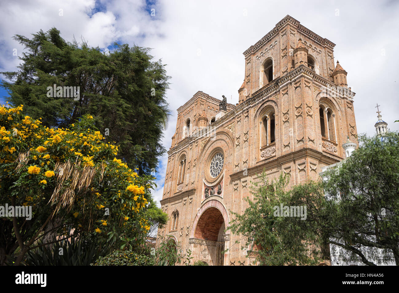 cathedral in Cuenca Ecuador - Stock Image