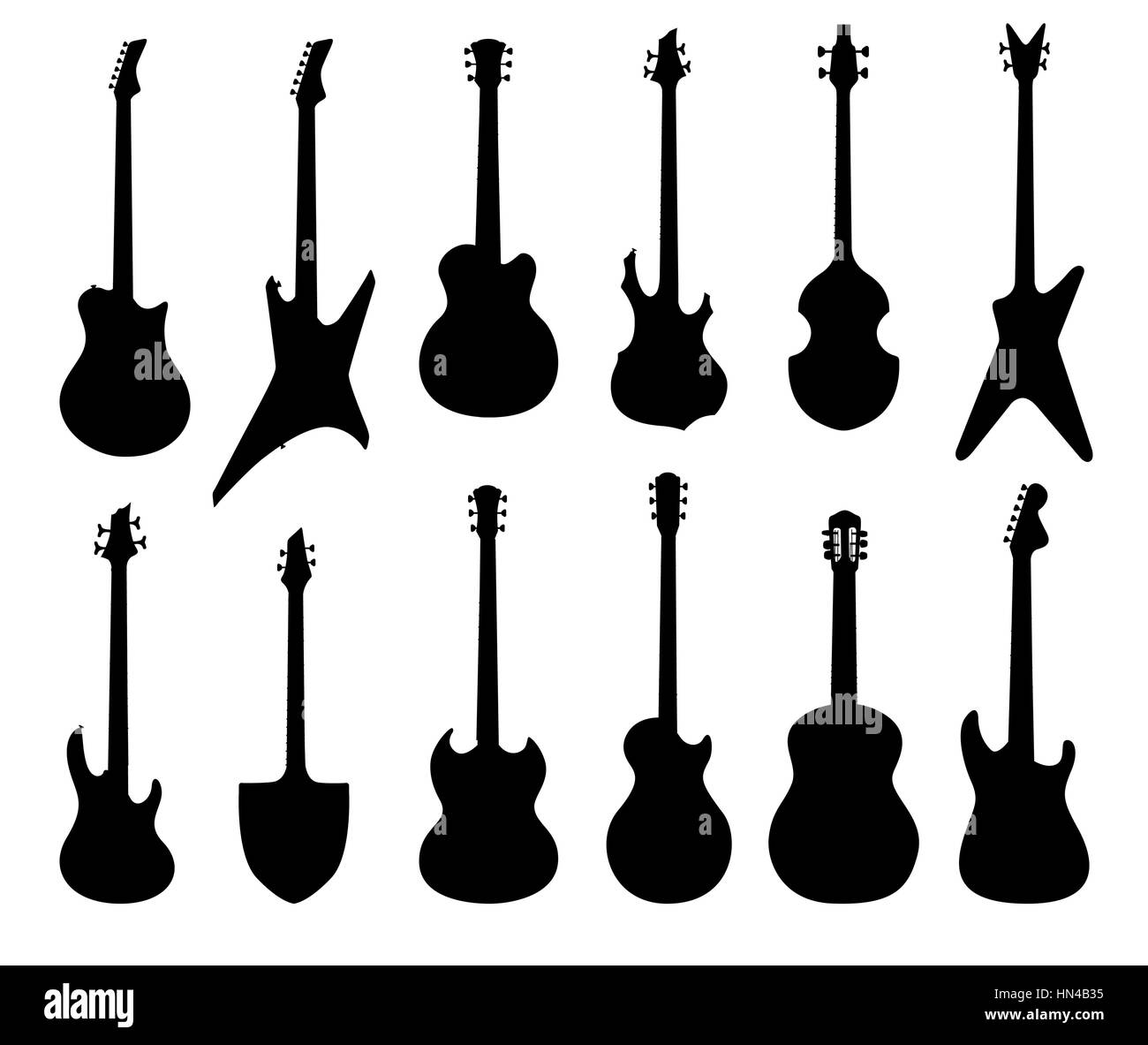 Musical Instruments Set Electric Acoustic Bass Ruthm Guitar