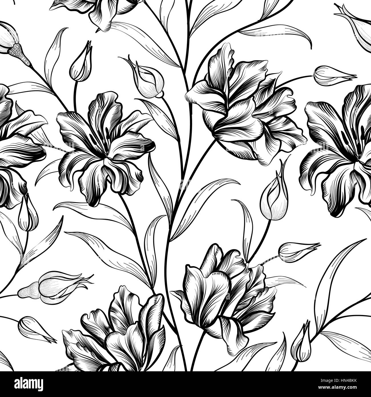 Floral Background Flower Pattern Flourish Seamless Textured
