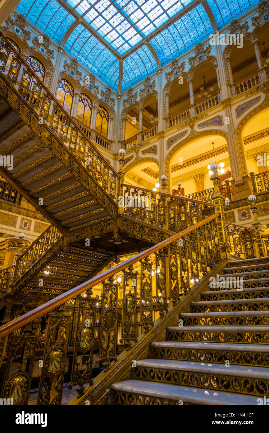 The Palacio de Correos de Mexico (Postal Palace of Mexico City) also known as the 'Correo Mayor' (Main Post - Stock Image