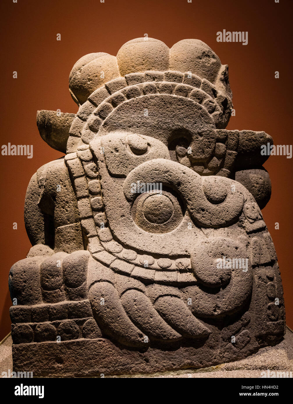 The National Museum of Anthropology (Spanish: Museo Nacional de Antropología, MNA) is a national museum of - Stock Image