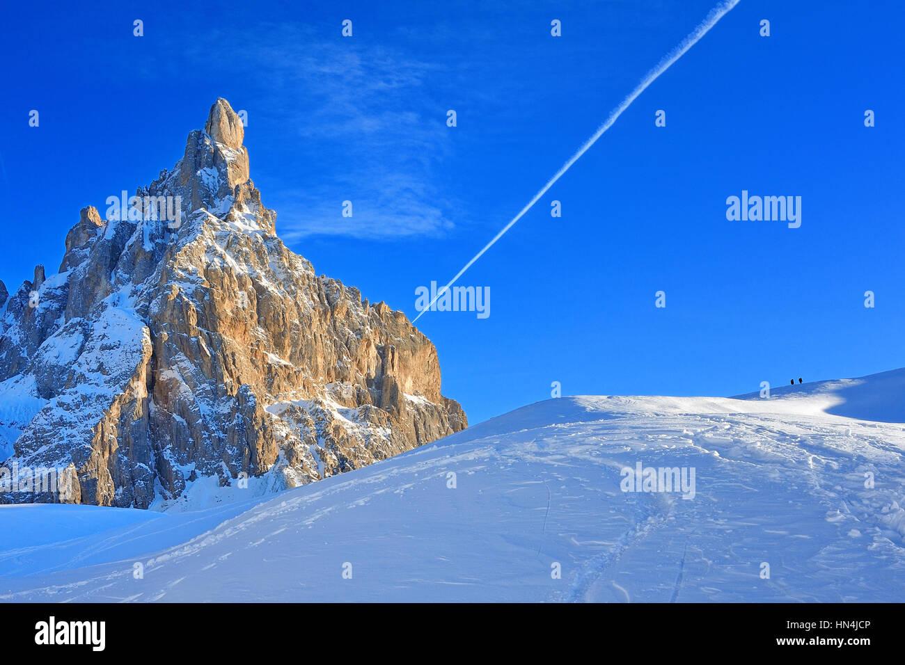 Dolomiti, Italian Alps, Passo Rolle, Pale di San Martino, Alto Adige - Stock Image