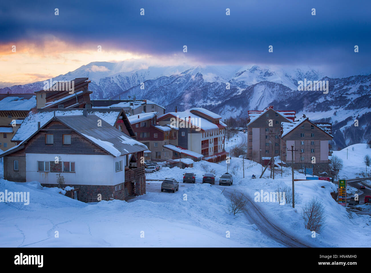 Gudauri Ski Resort and Village - Stock Image