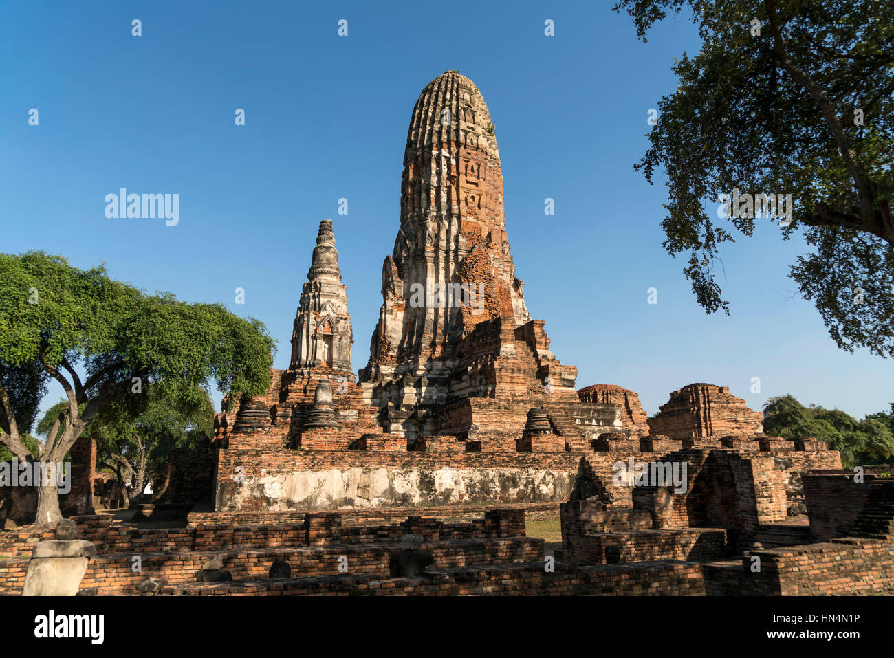 buddhistische Tempelanlage Wat Phra Ram im Geschichtspark Ayutthaya,  Thailand, Asien    buddhist temple Wat Phra - Stock Image