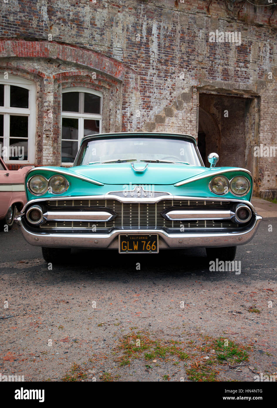 Stade, Germany - may 2, 2015: 1959 Dodge custom Royal at MOPAR Spring Fling annual meeting for vintage automobiles - Stock Image