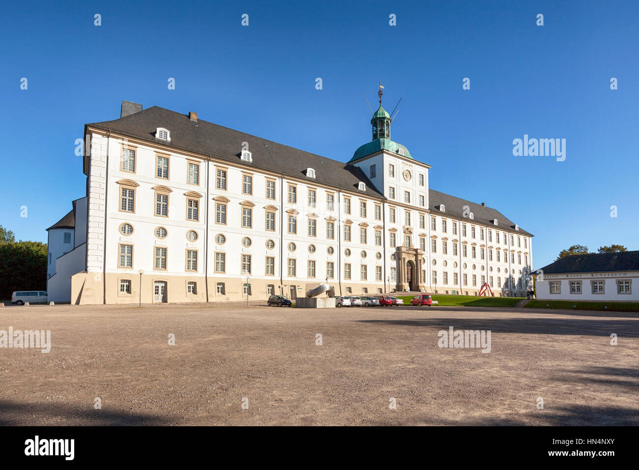 Schleswig, Germany - September 27, 2015: Gottorf Castle, built in the late 17th century, since 2006 seat of the - Stock Image