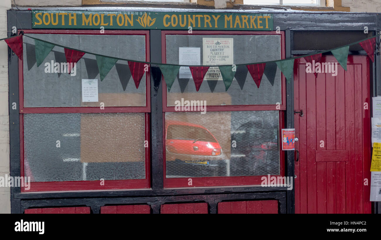 South Molton Country Market cafe - Stock Image