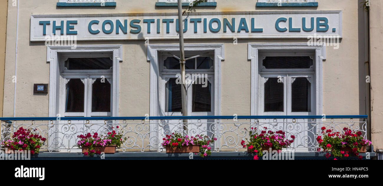 The Constitutional Club in South Molton - Stock Image