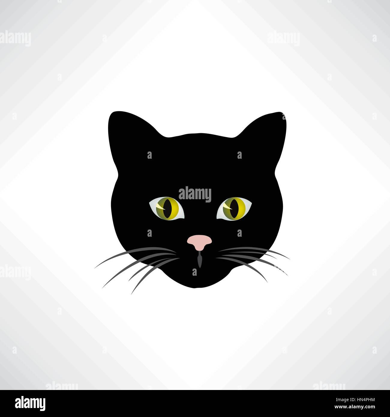 Cat. Cats face isolated. Pet design element - Stock Vector