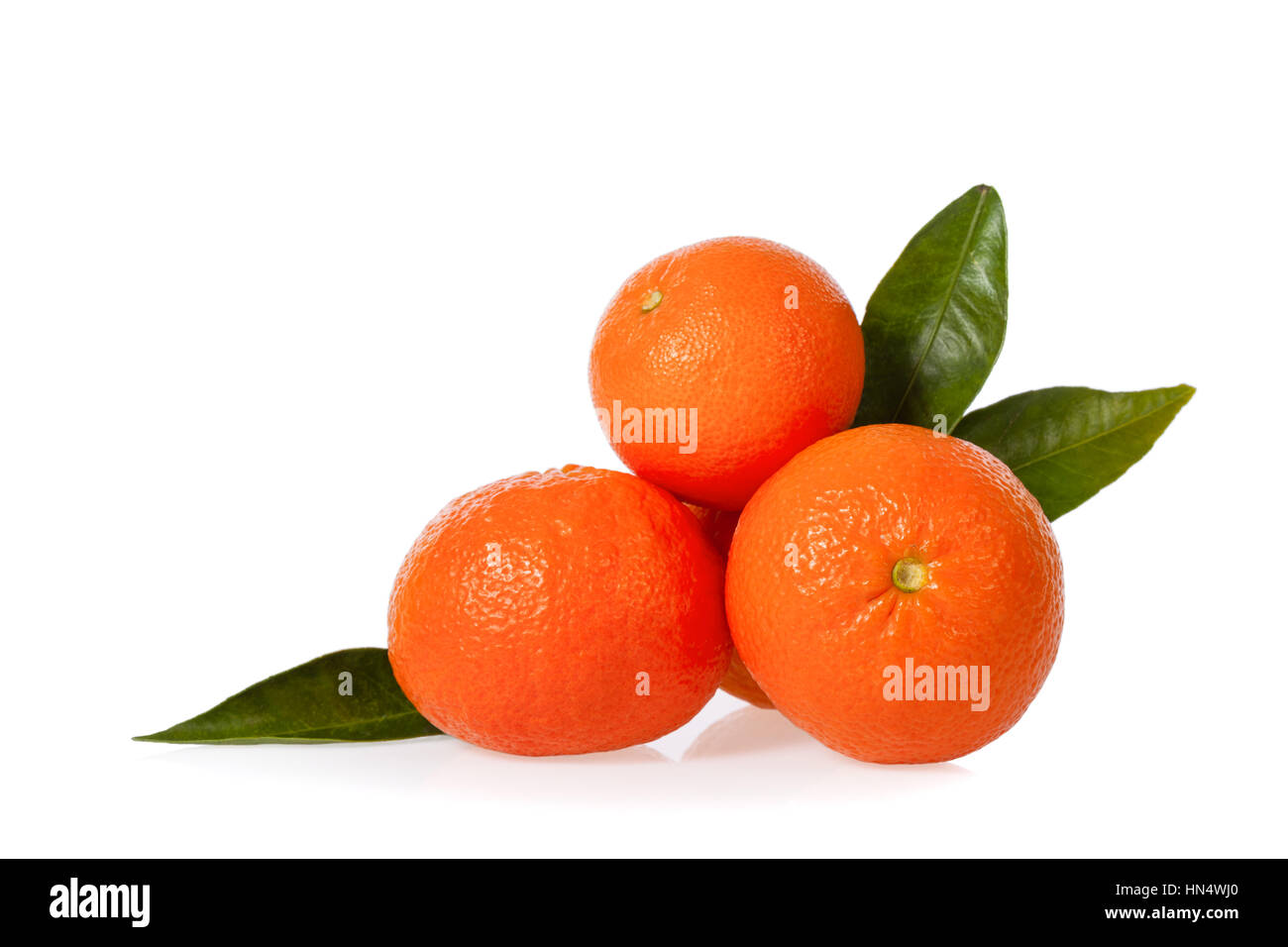 Clementines isolated on white background - Stock Image