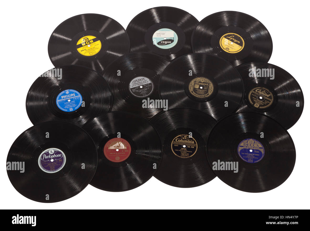 A Selection Of Old 78rpm Vinyl Records