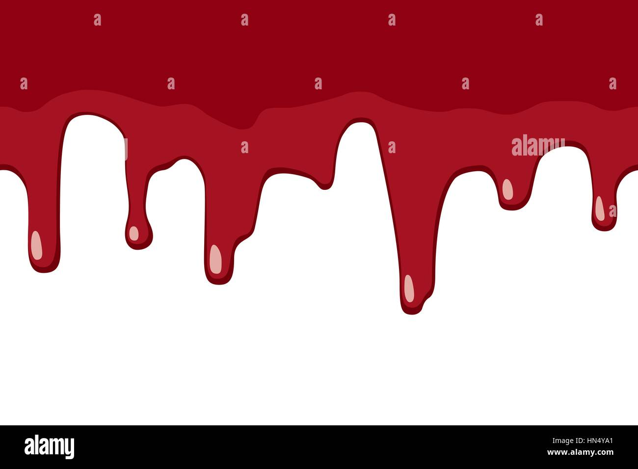 Dripping blood - Stock Image