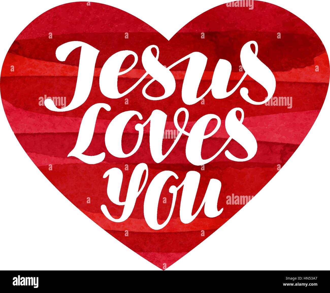 Jesus Loves You Stock Vector Images - Alamy