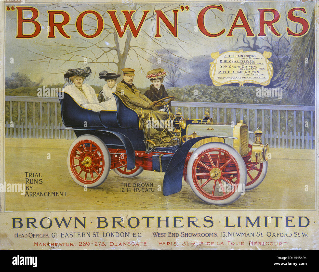 Brown Brothers Limited poster - Stock Image
