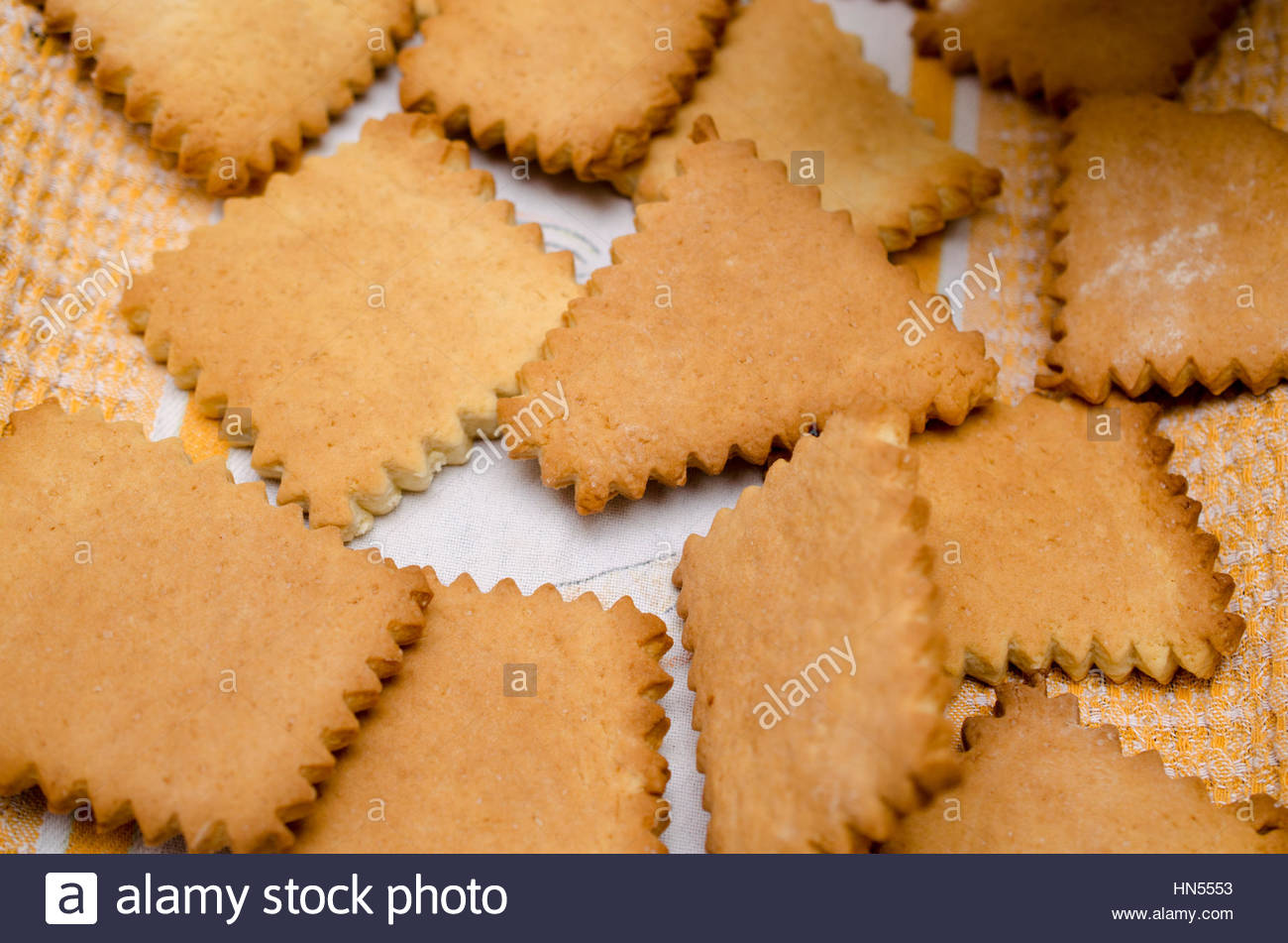 Cooking homemade cookies on rustic kitchen Stock Photo