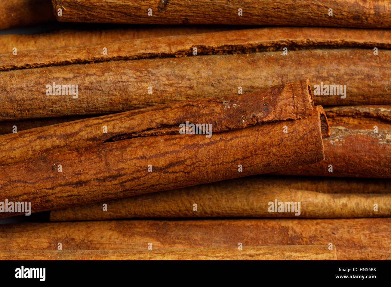 cinnamon raw food ingredient texture macro close up detailed Stock Photo
