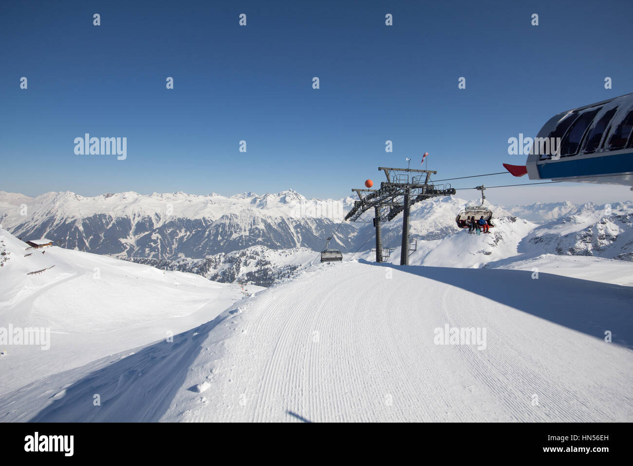 schruns ski resort austria stock photos & schruns ski resort austria