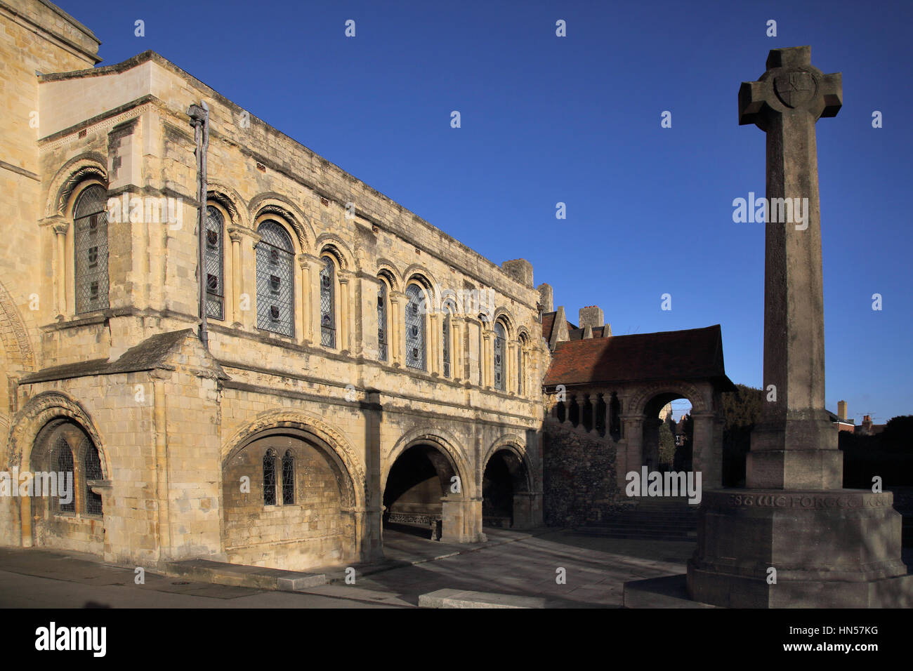 kings school adjacent to canterbury cathedral in canterbury kent - Stock Image