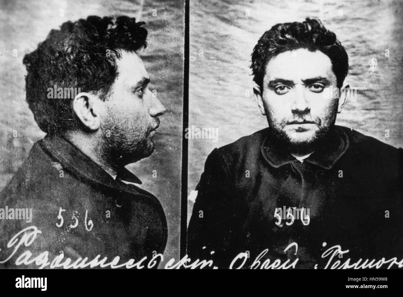 GRIGORY ZINOVIEV (1883-1936) Bolshevik revolutionary and Soviet Communist politician. Police photo after his arrest - Stock Image