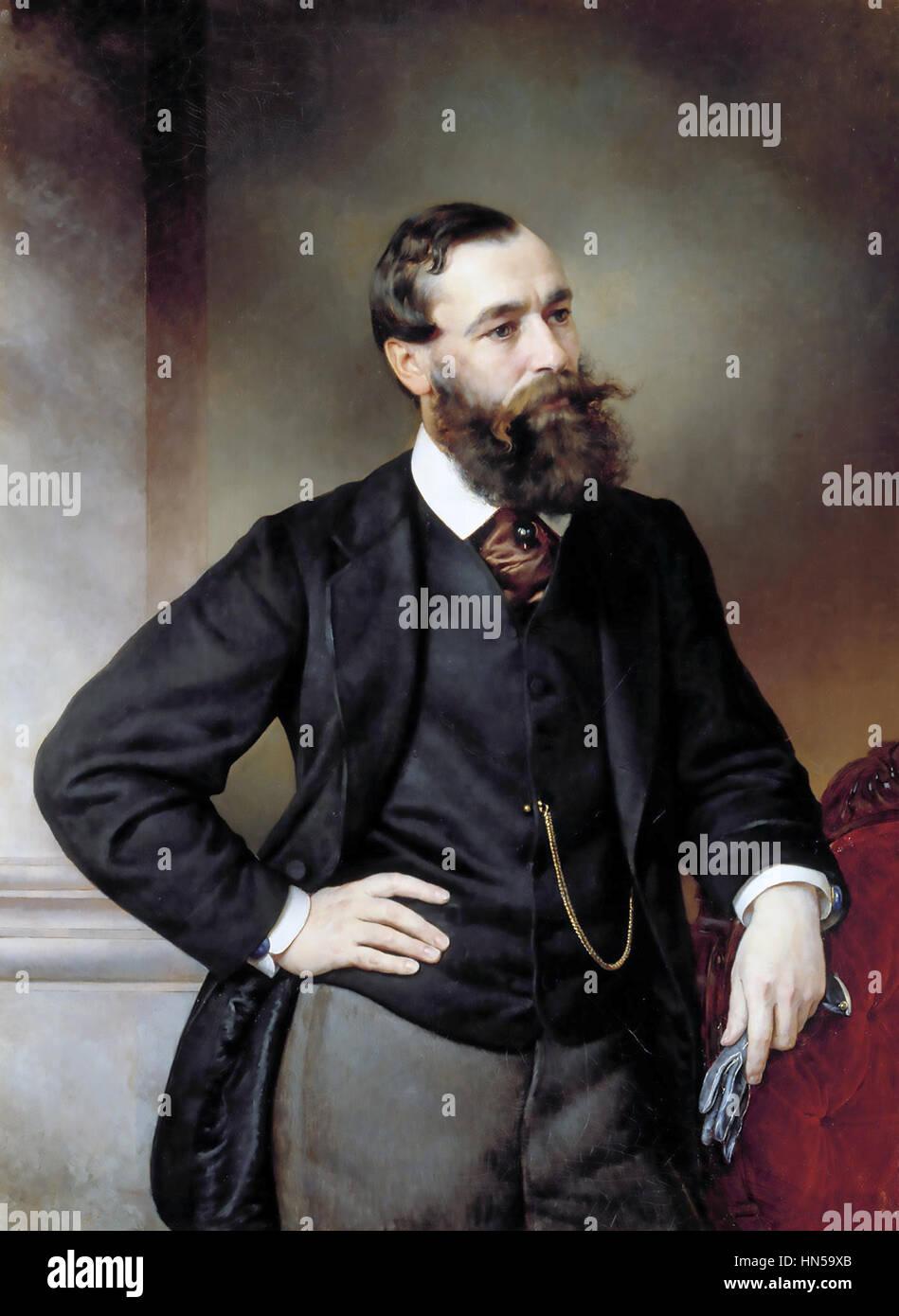BORIS CHICHERIN (1828-1904) Russian political theorist - Stock Image