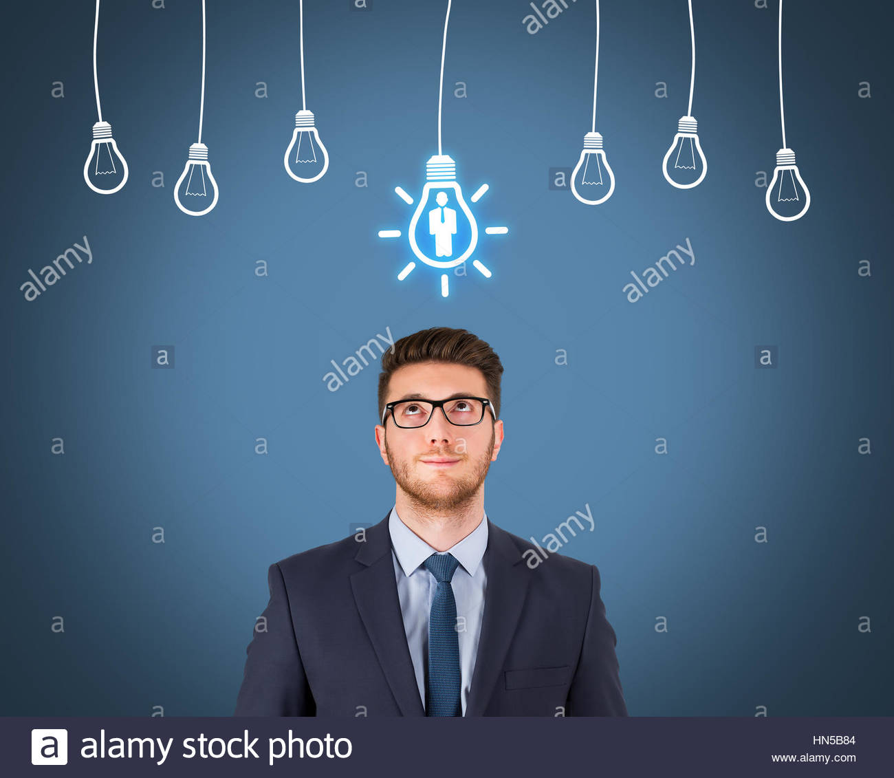 Recruitment and Idea With Person - Stock Image