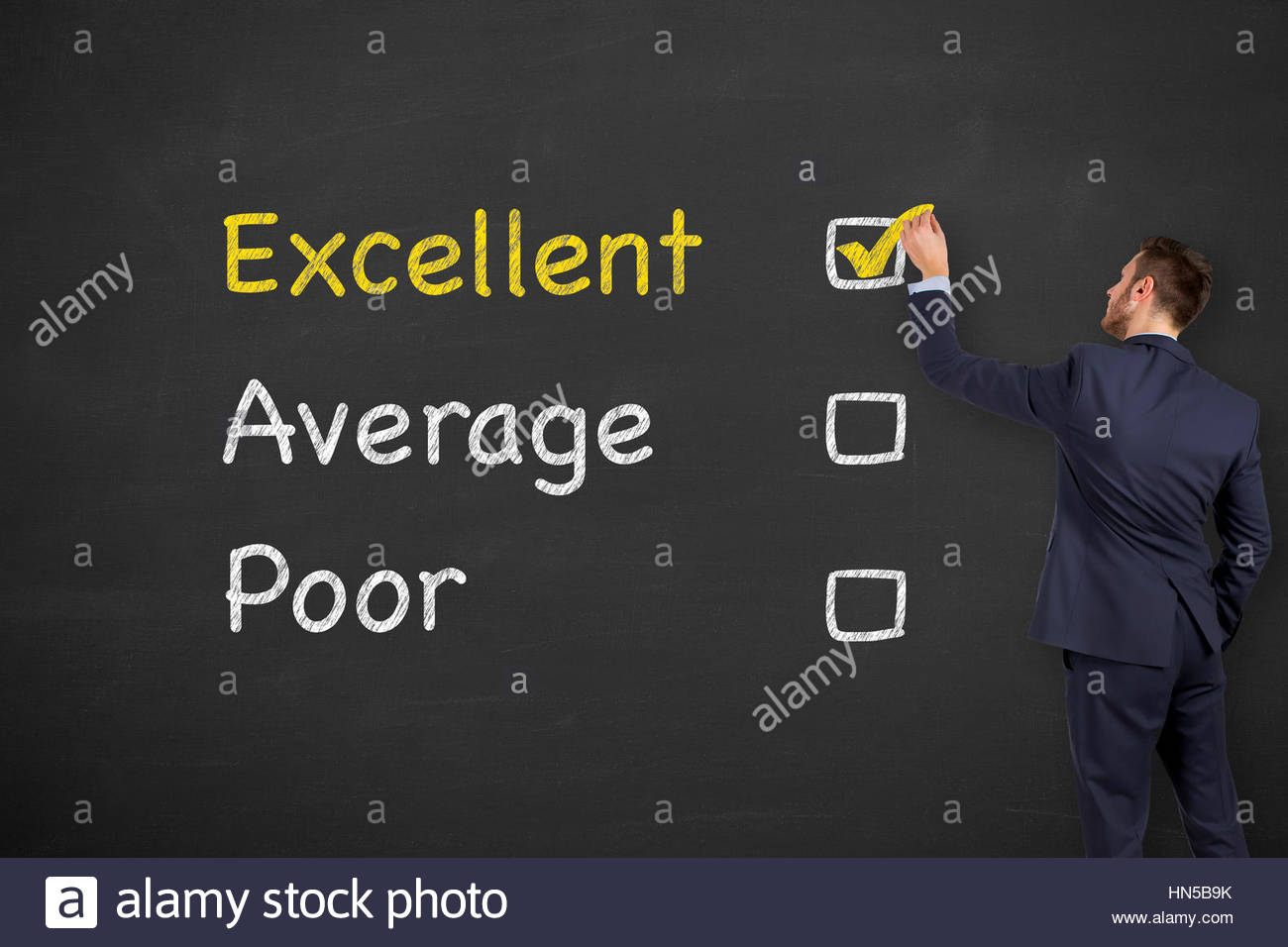 Customer Satisfaction Concepts on Chalkboard - Stock Image