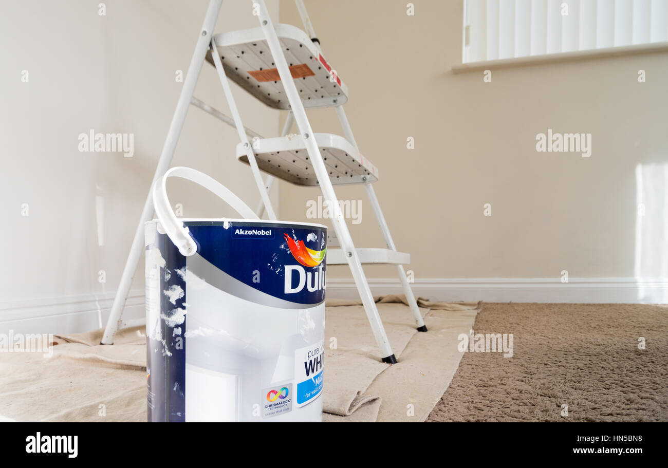 A job done well. DIY decorating yields personal satisfaction. - Stock Image