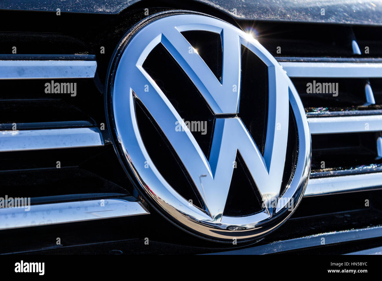 Indianapolis - Circa February 2017: Volkswagen Cars and SUV Dealership. VW is Among the World's Largest Car - Stock Image