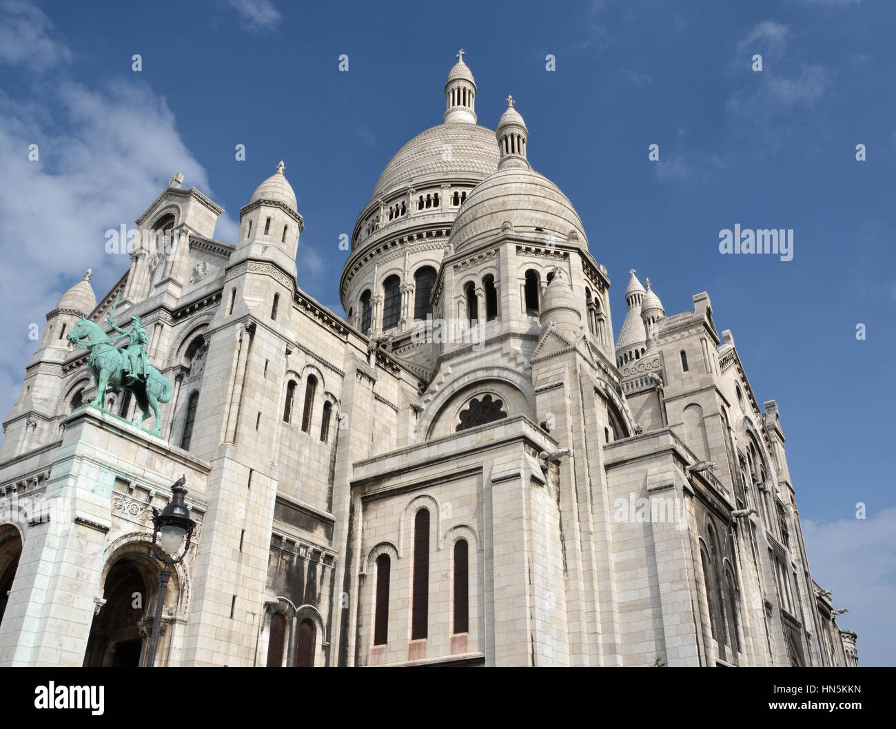 The Catholic church of Sacre Coeur at the top of  Montmartre Paris France. - Stock Image