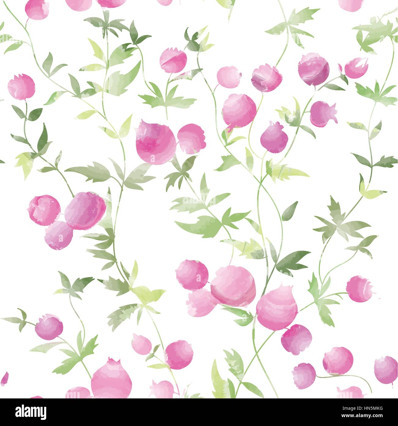 Floral Seamless Pattern Flower Watercolor Background Floral