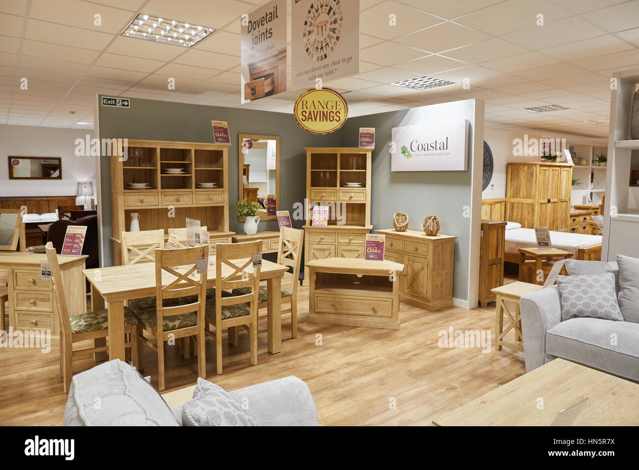 The interior of macclesfield oak furniture land a privately owned british designer manufacturer and retailer of fully assembled hardwood cabinetry f