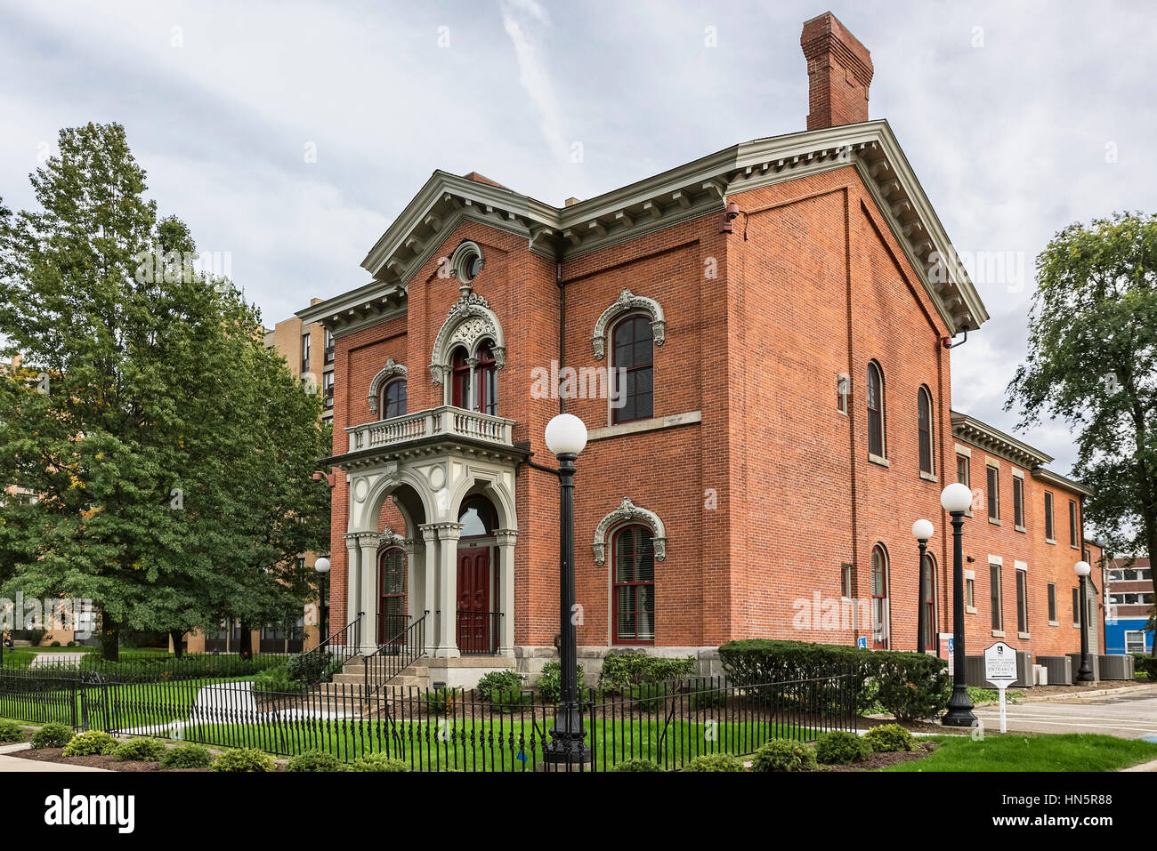 Historic Gideon Ball house, Erie, Pennsylvania, USA. - Stock Image