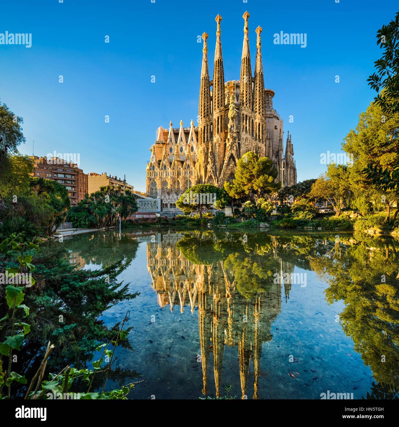Sagrada Familia cathedral in Barcelona, Spain - Stock Image