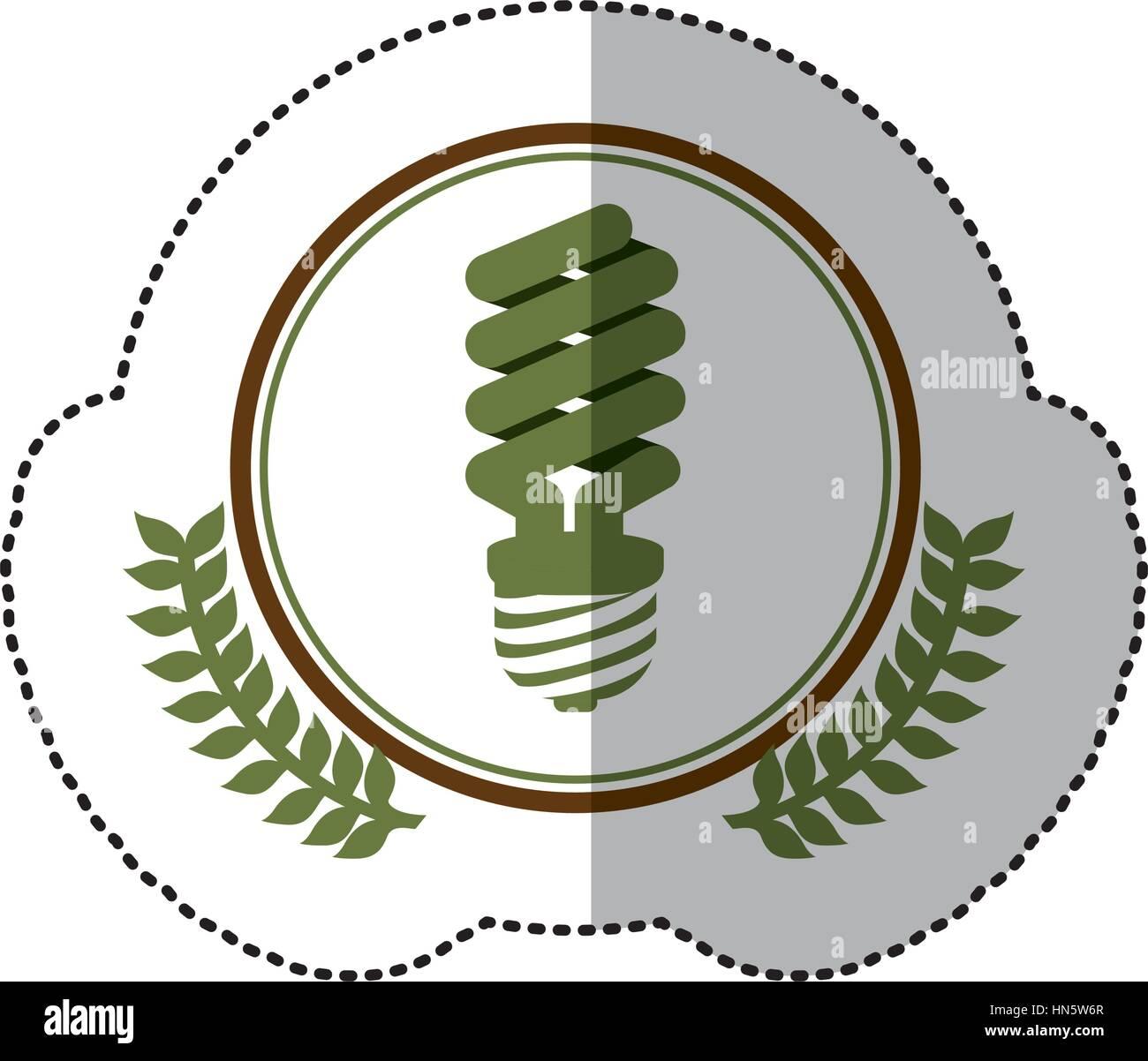 symbol bulb environmental care icon, vector illustration - Stock Image