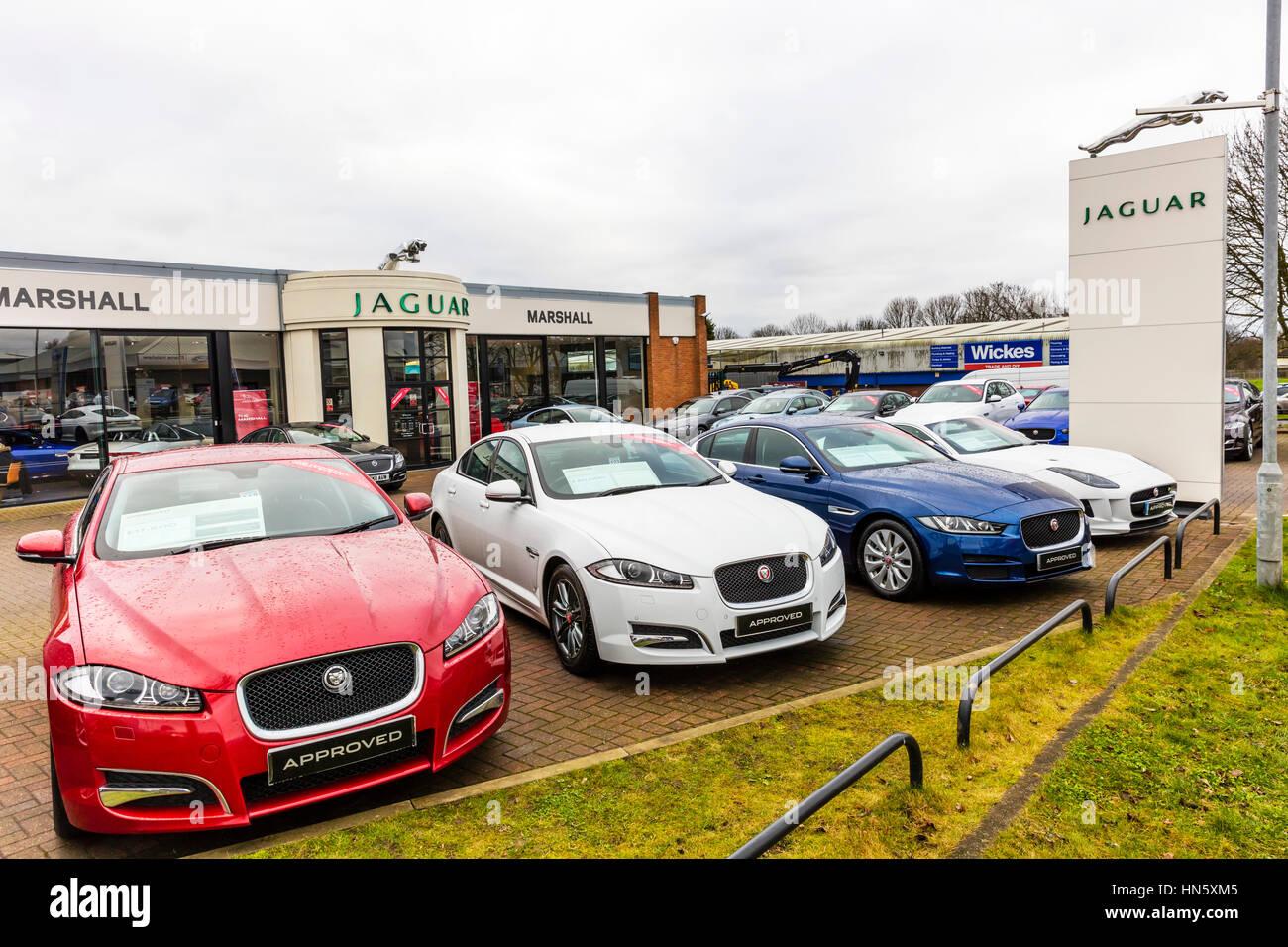 Jaguar car dealer dealership garage forecourt car sales selling cars ...