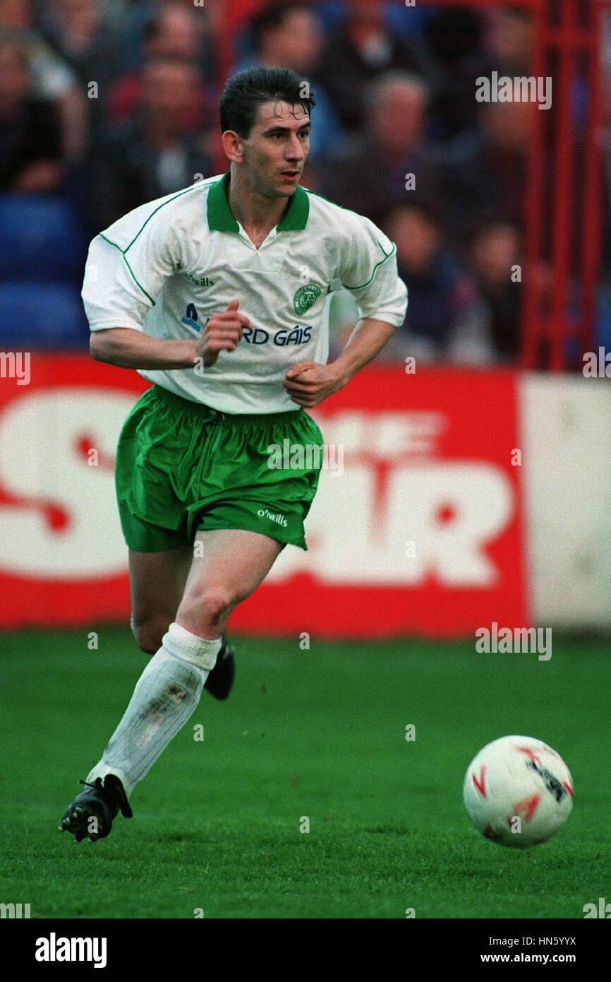 PAUL CARLYLE BORD GAIS & DERRY CITY FC 06 August 1993 - Stock Image