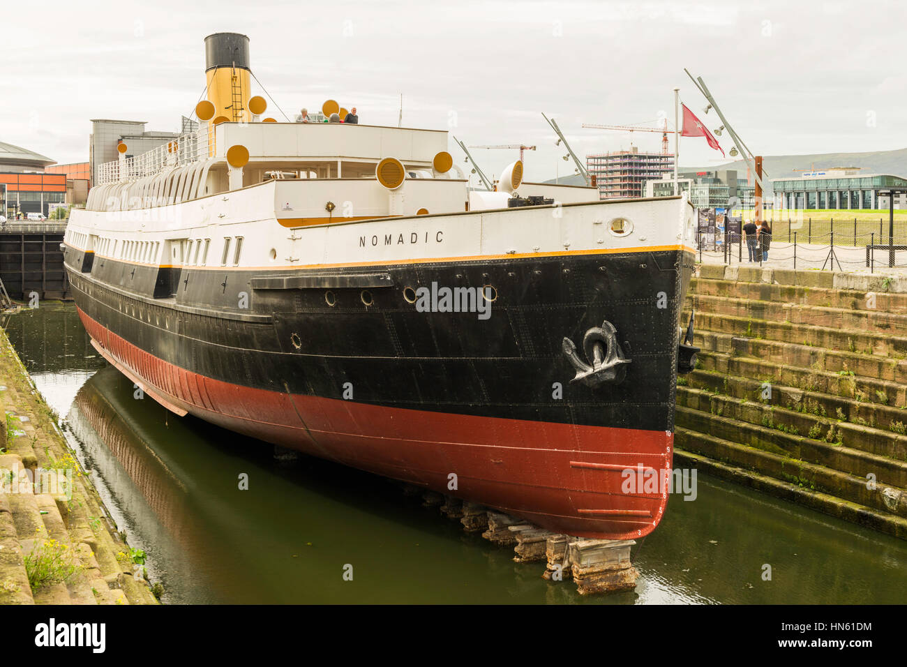 SS Nomadic was built in Belfast in 1911 and was a White Star Lines  tender for RMS Titanic and RMS Olympic.  Now - Stock Image