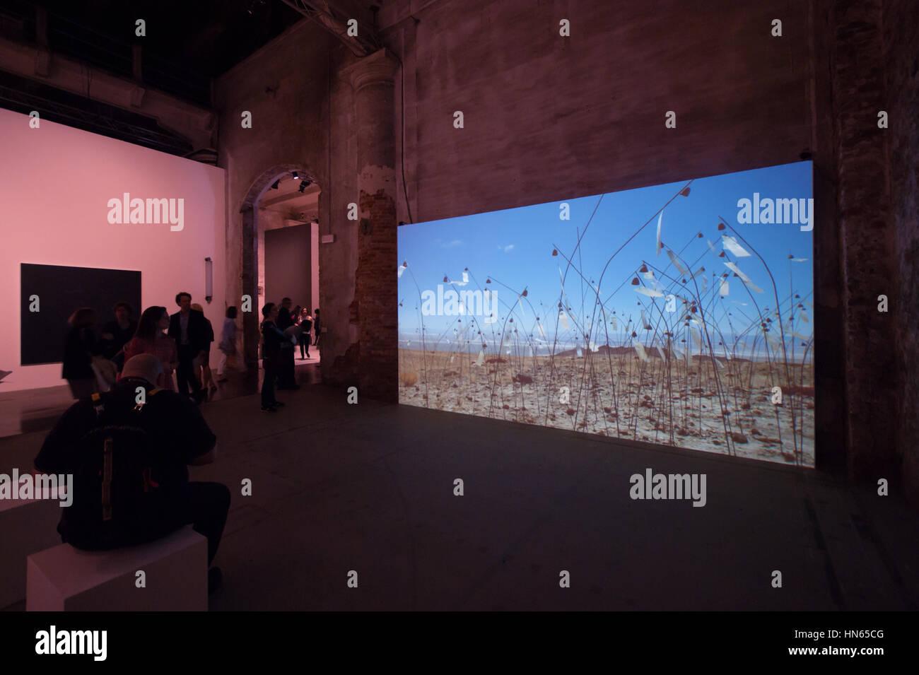 Venice Art Biennale 2015: the video artwork 'Animitas' by Christian Boltanski - Stock Image