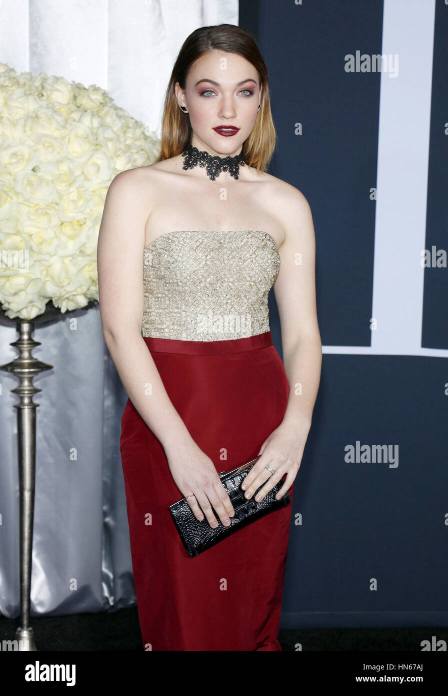 Violett Beane at the Los Angeles premiere of 'Fifty Shades Darker' held at the Theatre at Ace Hotel in Los - Stock Image