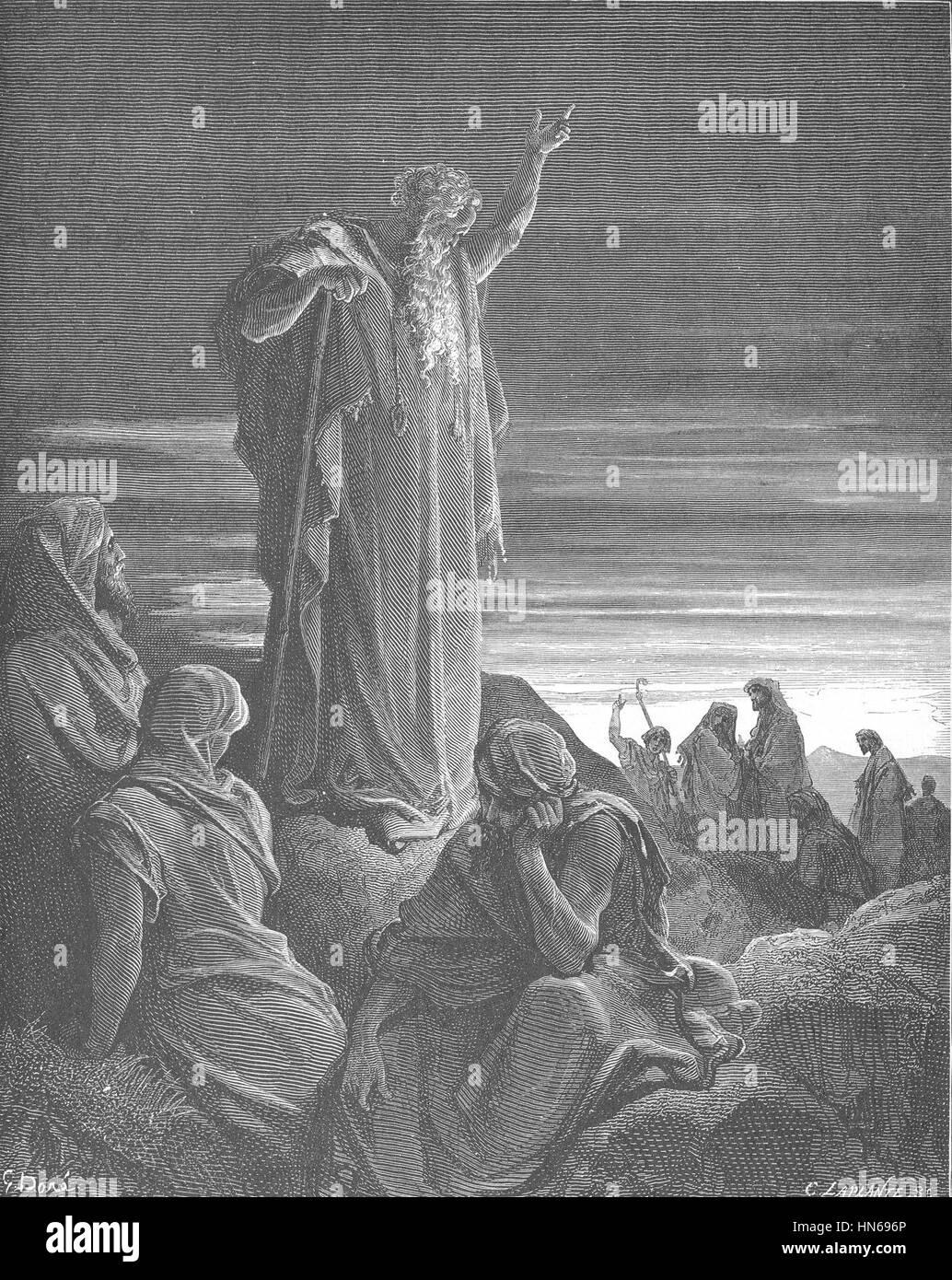 126.The Prophet Ezekiel - Stock Image