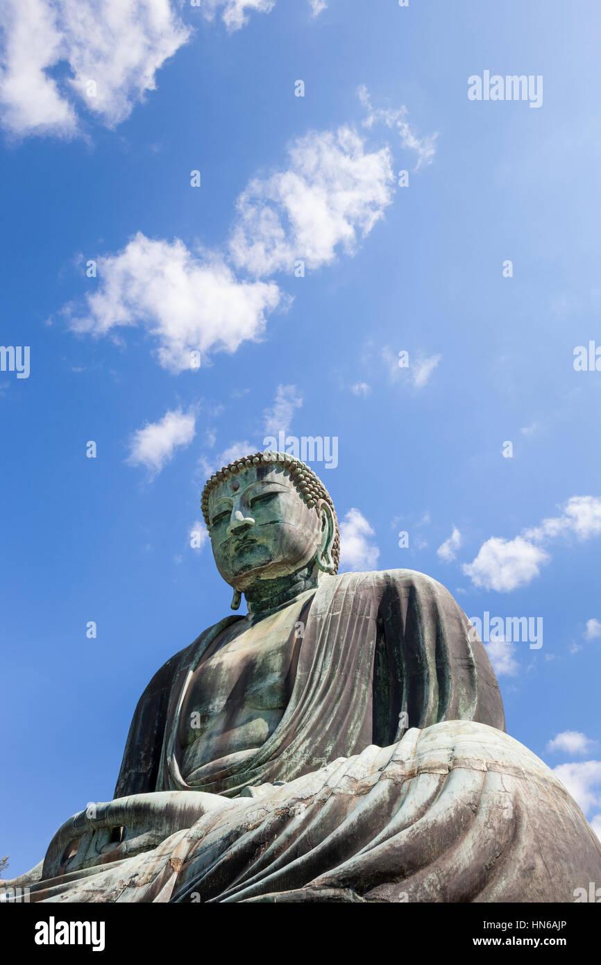 Kamakura, Japan- May 23, 2012: The Daibutsu Great Buddha at Kotoku-in temple in Kamakura, Kanagawa prefecture, Japan. - Stock Image
