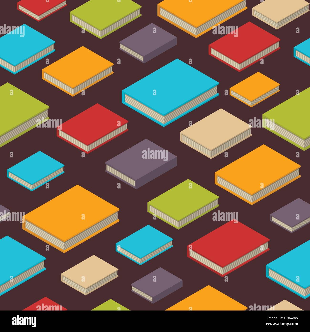 Seamless Pattern Of New 3d Colorful Books And Tutorials
