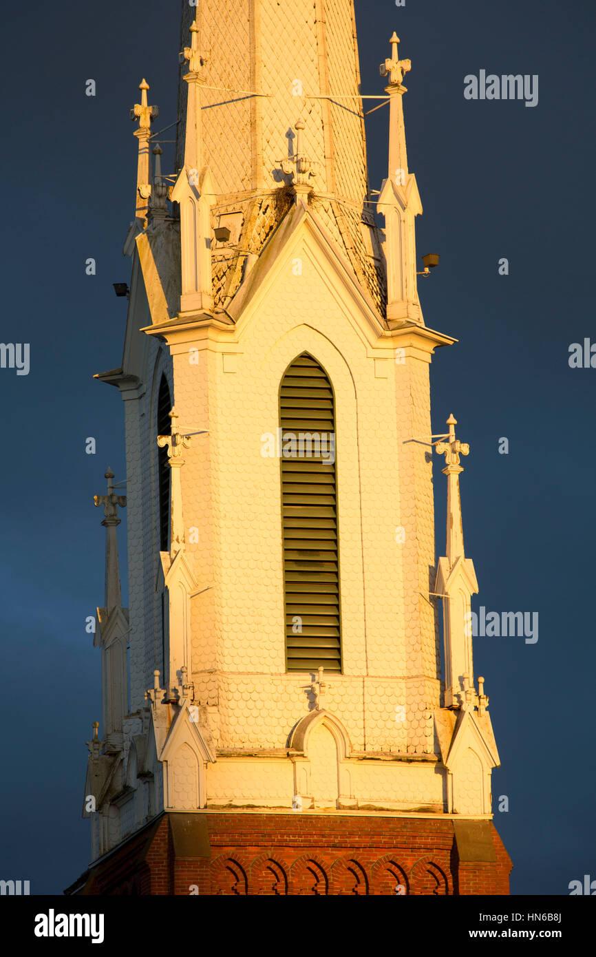 Church steeple, Salem, Oregon Stock Photo