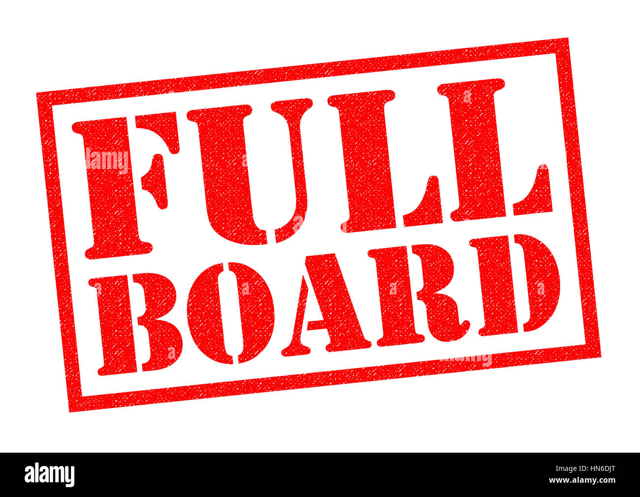 FULL BOARD red Rubber Stamp over a white background. - Stock Image