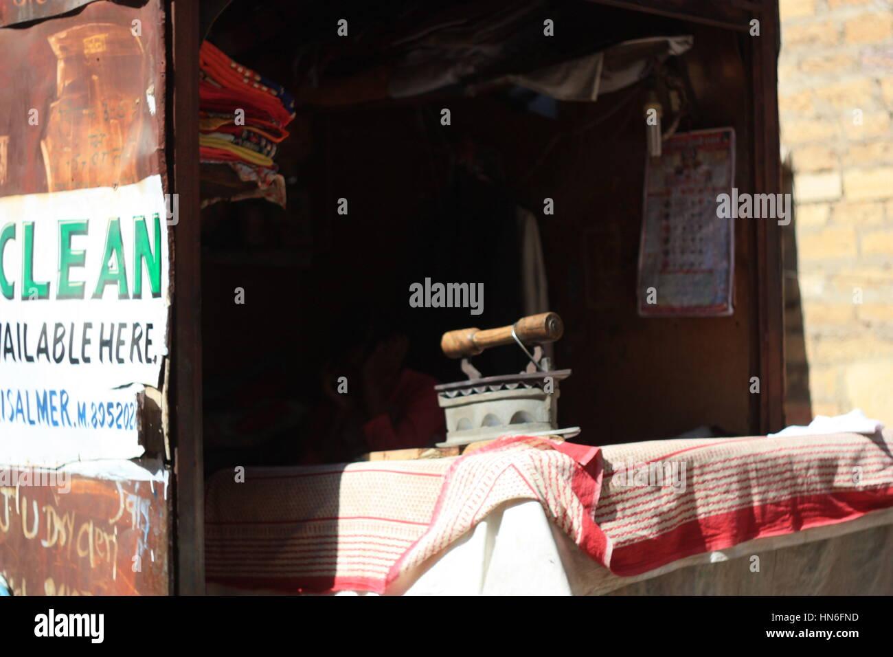 dhobi in rajasthan - Stock Image
