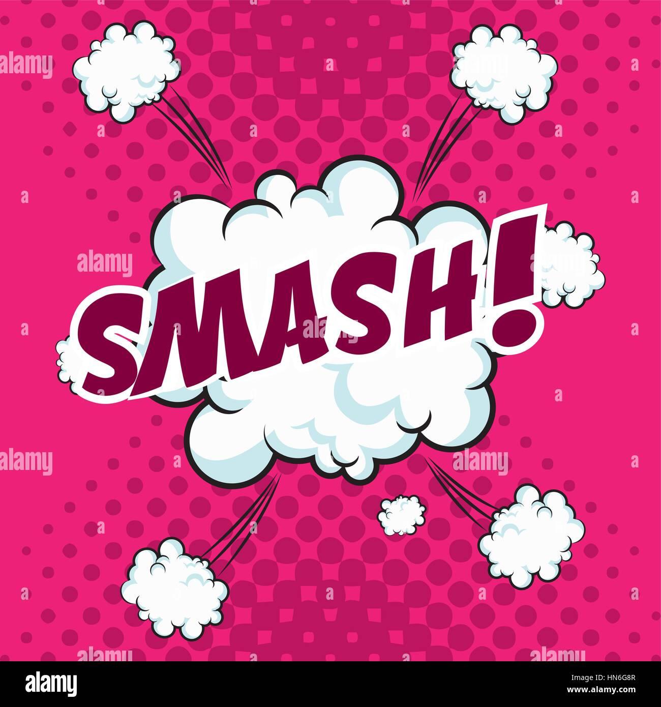 smash bubble speech pop art design stock vector art illustration