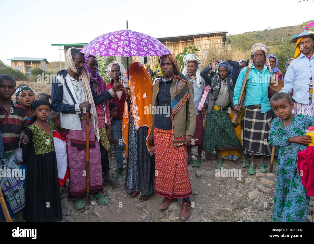 Oromo People During Wedding Celebration Stock Photos & Oromo