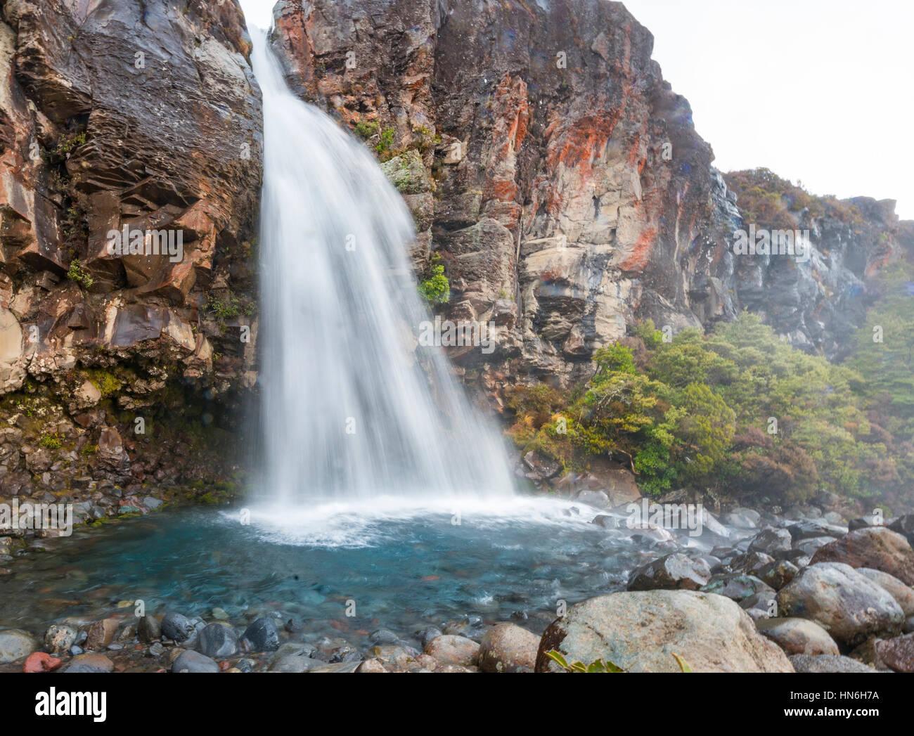 Taranaki Falls, waterfall, Tongariro National Park, North Island, New Zealand - Stock Image