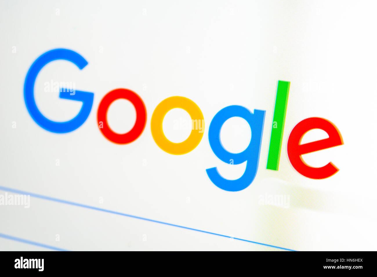 Google, Homepage, Search Engine, Internet, Screenshot - Stock Image
