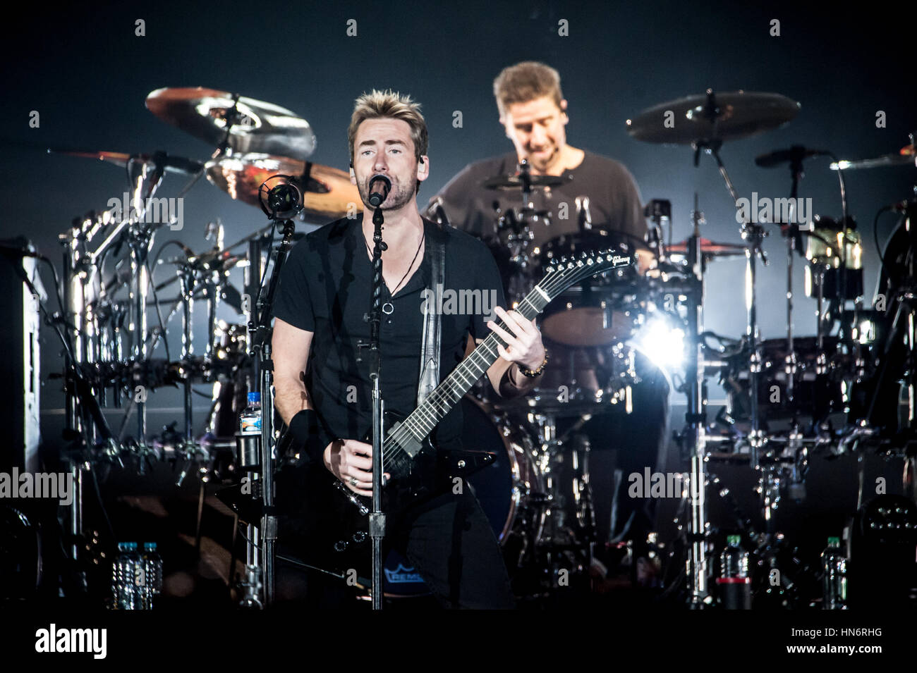 Nickelback live at Londons O2 Arena - Stock Image